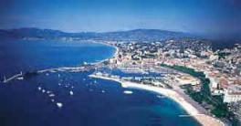 vue aerienne de Cannes